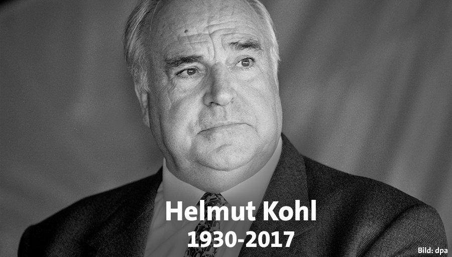 RT @spdde: Wir trauern. Mit Helmut #Kohl haben wir einen großen Europäer verloren. https://t.co/KYPvpRN4jO