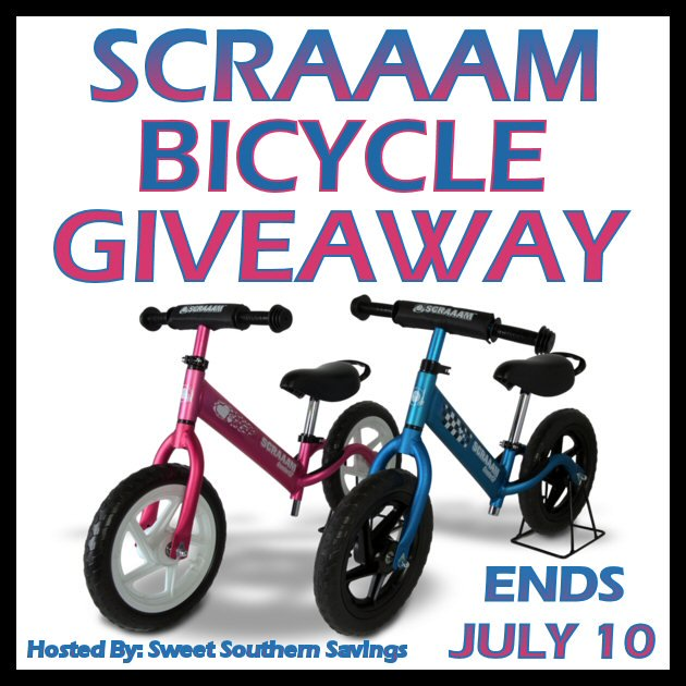 SCRAAAM Balance Bike GIVEAWAY 7/10 @Scraaambikes