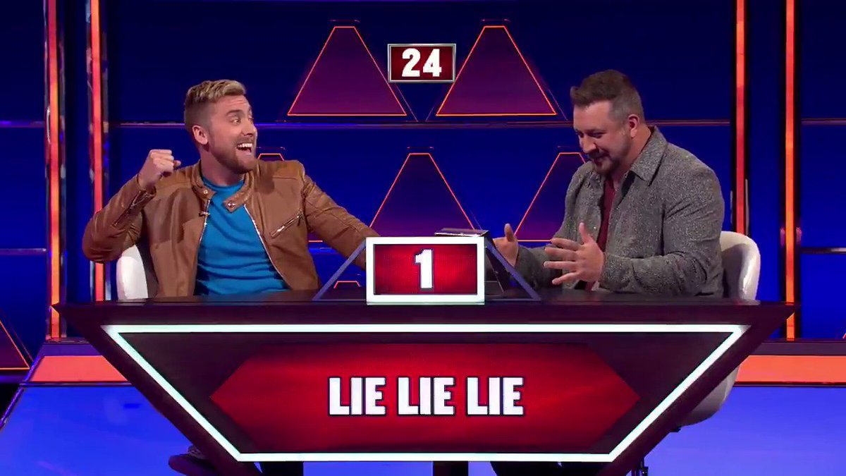 RT @PyramidABC: How many words can @lancebass name that are said in triplicate? You know, like