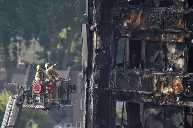 London firefighters used a drone at the Grenfell Tower site