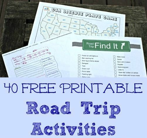 40 FREE printable road trip games & activities! familytravel roadtrip printables freebie