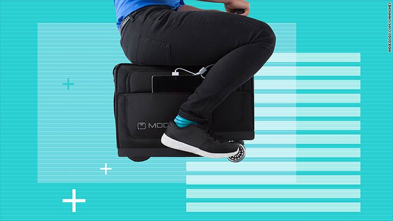 A rideable suitcase is one of these must-have gadgets for business travelers