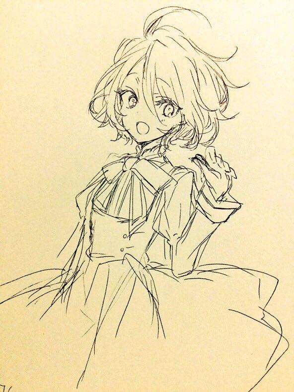 松太郎は手癖で描くとこういうぐにゃぐにゃした線の髪の毛にしがち