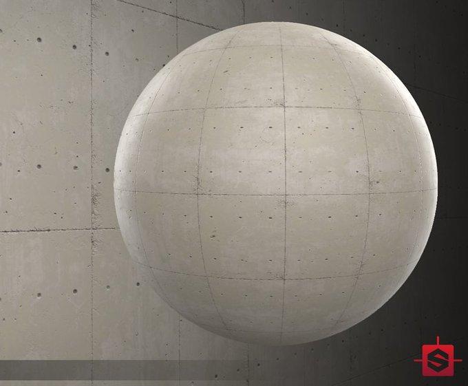 FREEBIE- Substance Material of a Concrete Slab Wall- cubebrush gamedev tgif treatyoself
