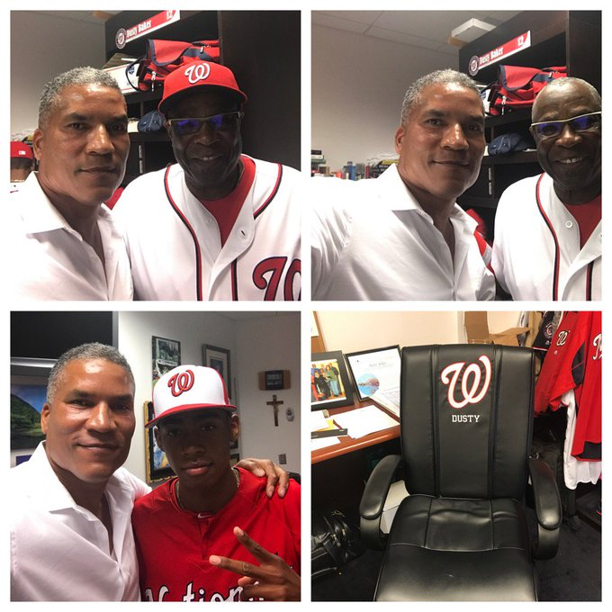 Dusty Baker                     Happy Birthday 6/15/17 Darren Baker was drafted by the Nat\s Friday.  Go Nat\s!