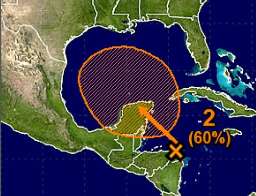 National Weather Service forecasts a 60 percent chance of a tropical storm developing in the Gulf
