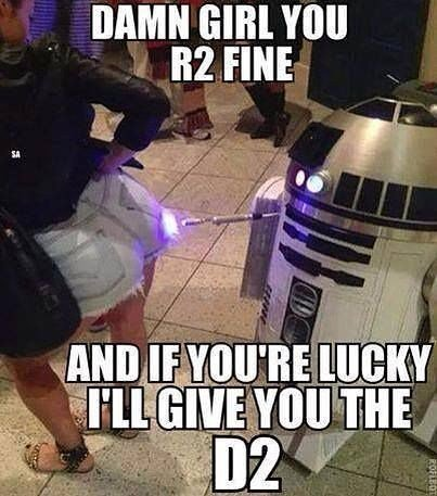 I'm sure that wasn't in his original programming #r2d2 #sexystarwars https://t.co/nNxRzrUcCM https://t.co/Lo1QISrpyh