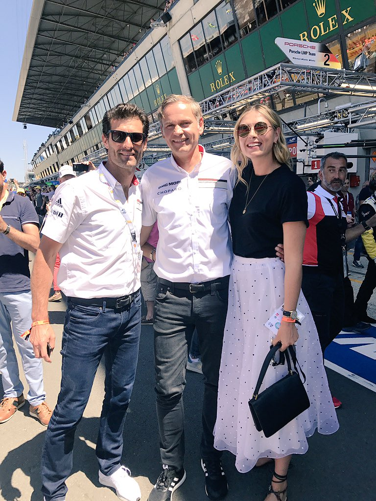 At the #lemans24 race today to support @porscheraces and @Porsche_Team ???????? https://t.co/wtFrjYW5LS