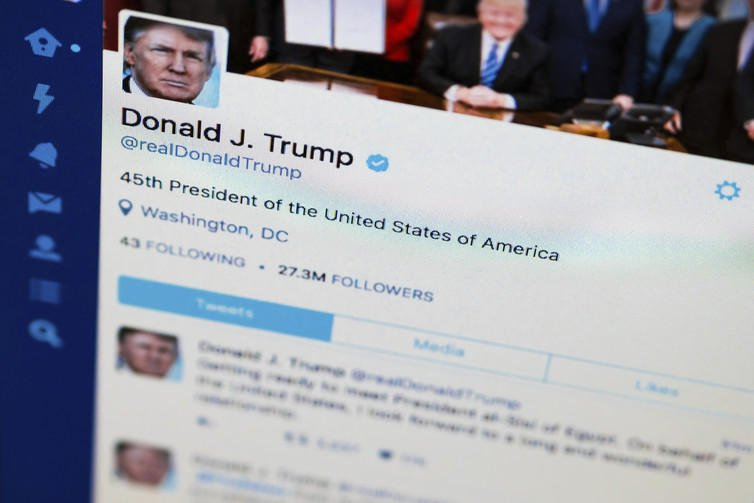 Pop-up library for Trump's tweets opens in New York City