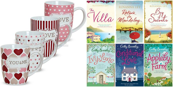 Four Romantic Mugs & Six Wonderful Books Giveaway