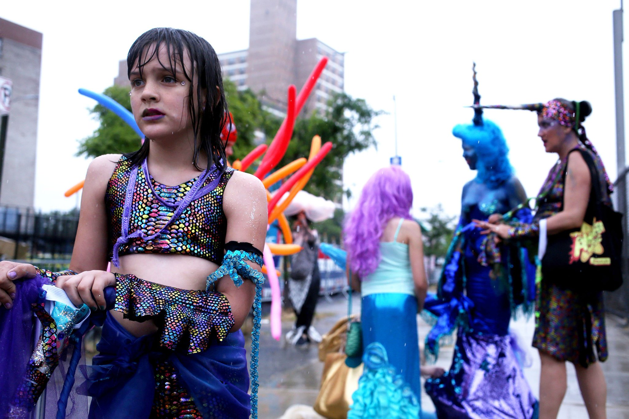 God bless the soggy mermaids of Coney Island's #MermaidParade. https://t.co/3CdDqSts3r https://t.co/o5yoDKpLV2