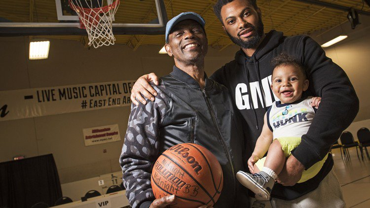 Spurs legend James Silas and son Xavier team up on Father's Day