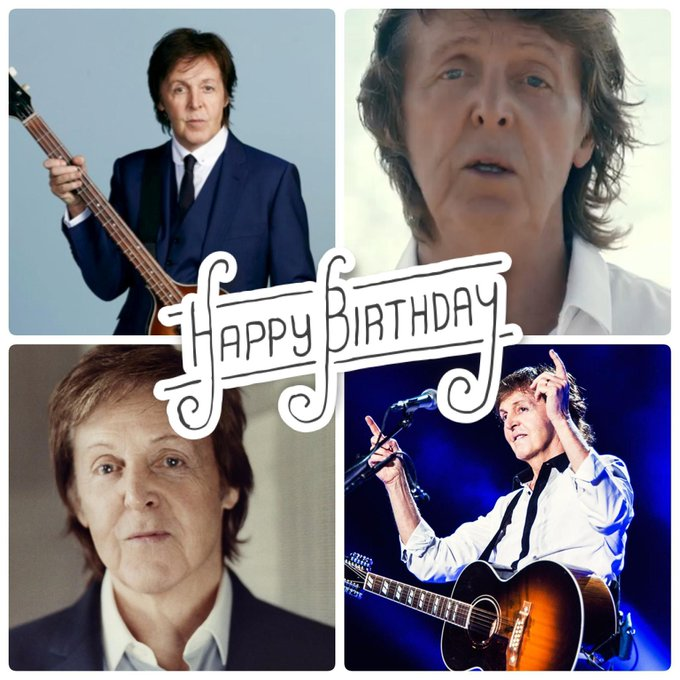 Happy Birthday to the amazing, Paul McCartney.  Help us celebrate this legend today.