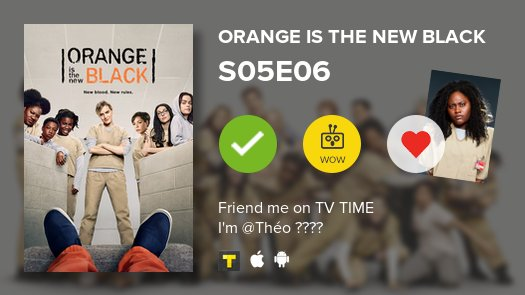 I've just watched S05E06 of Orange Is the New Black! #OITNB  https://t.co/0ln4somhT9 https://t.co/JOiluwoYmS
