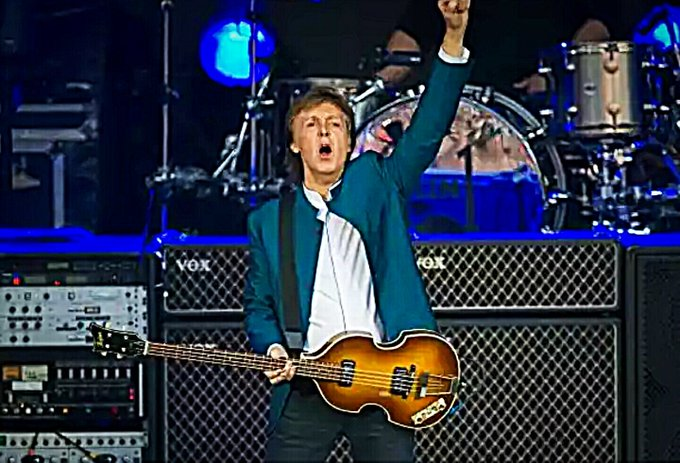 A very happy birthday, Sir!  Paul McCartney is today 75!