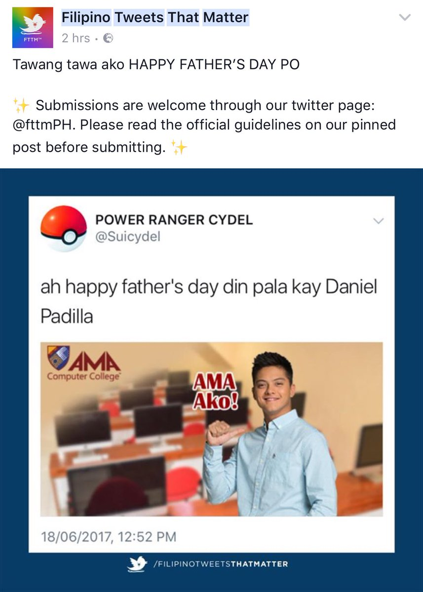 RT @periwinkle525: Winning comment of the day! 👏👏 Happy Father's Day @imdanielpadilla 😂  #BOKQKathNielASAPDadsDay https://t.co/B9jTMvpgUu