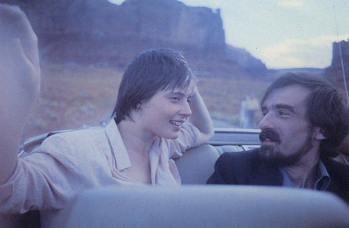 Happy birthday Isabella Rossellini, pictured here with Martin Scorsese, photographed by Wim Wenders.