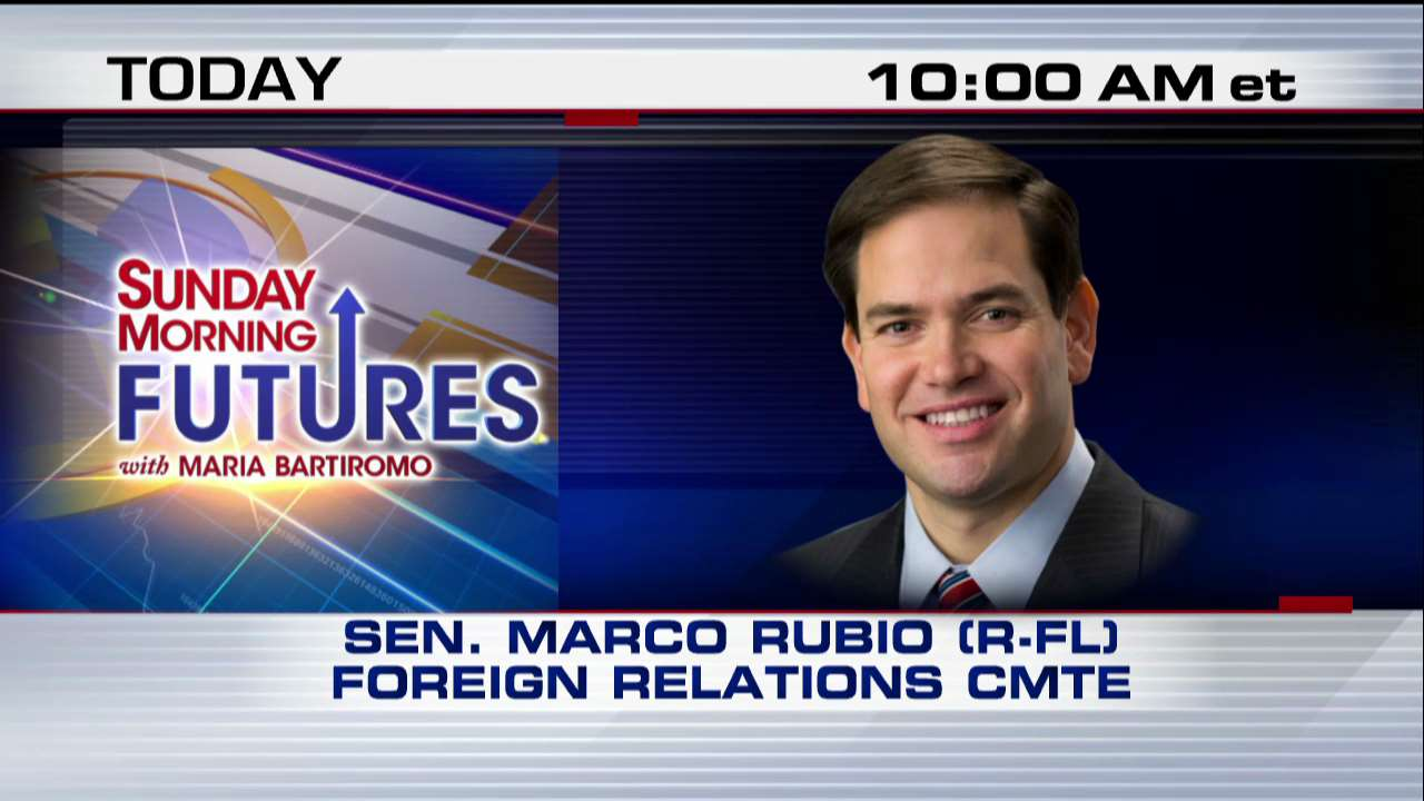COMING UP on @SundayFutures, @MariaBartiromo talks to @marcorubio - it all starts at 10a ET on Fox News Channel! https://t.co/phDGAevaIp