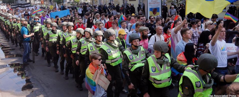 Thousands attend LGBT pride march in Ukraine's capital, Kiev