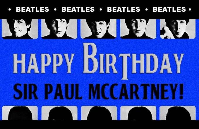 Happy 75th Birthday Today To Paul McCartney!