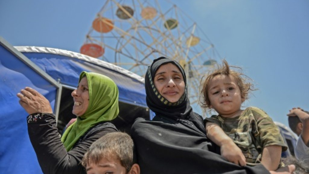 Wheel of fate spins at screening centre in Iraq's Mosul