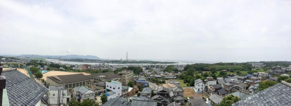 グラスリップの舞台、福井県坂井市三国の高台に位置するみくに龍翔館からの眺め。#glasslip
