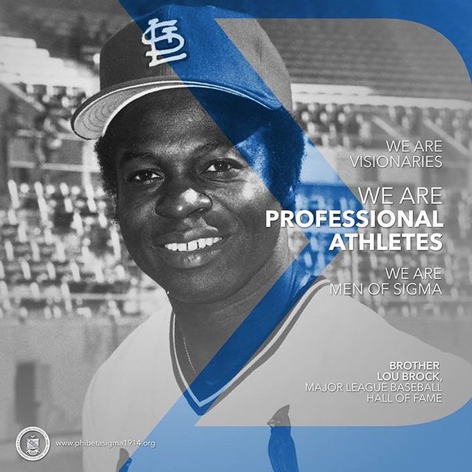 Happy 78th Birthday to one of the greatest all-time Baseball players - our Sigma Brother, Lou Brock !