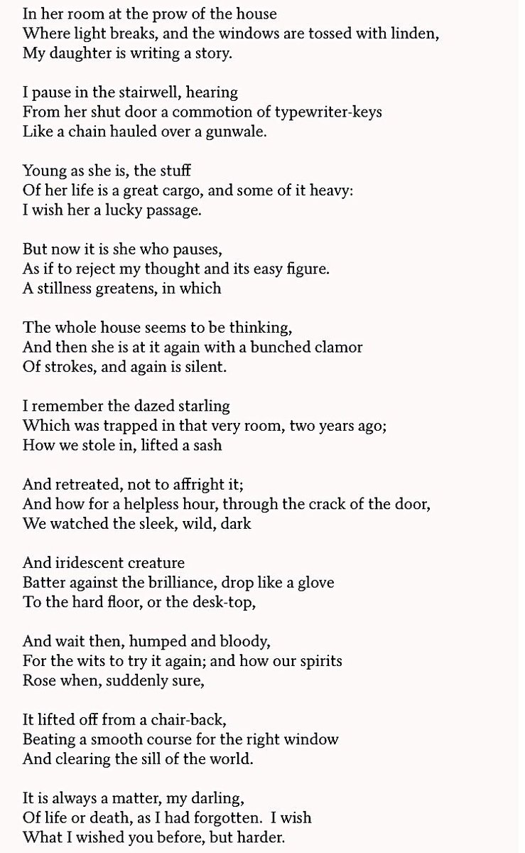 """test Twitter Media - Celebrating Father's Day with """"The Writer"""" by Richard Wilbur - a truly beautiful piece. 🦉✨#poetry #fathersday https://t.co/y2Sy5iEYNz"""