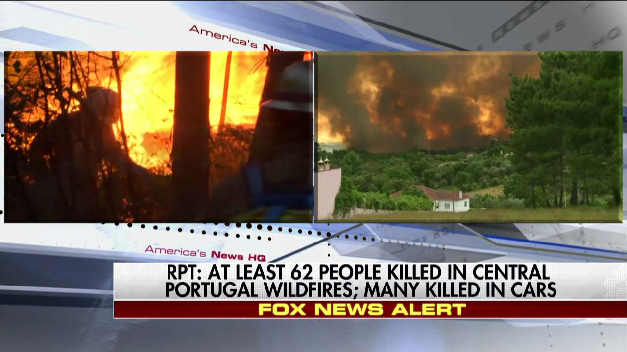 Report: At least 62 people killed in central Portugal wildfires; many killed in cars. https://t.co/1jYI81KzPw