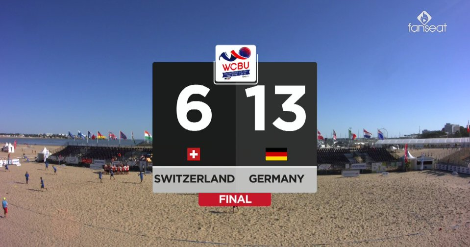 Final Score #MMIX #SUI 6 : 13 #GER #WCBU2017 https://t.co/bEJkDNQ5i3 <a href='https://twitter.com/RedisUltimate/status/876482663296774145/photo/1' target='_blank'>See original &raquo;</a>