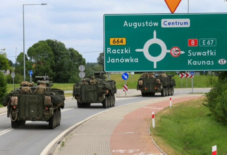 NATO war game defends Baltic weak spot for first time