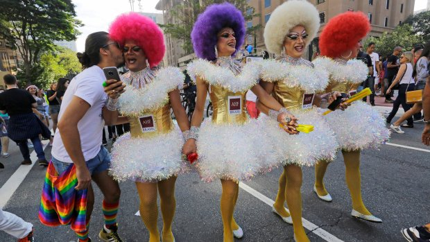 Hundreds of thousands gather for Brazil gay parade, world's biggest