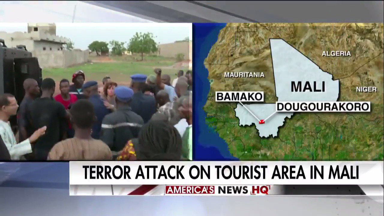 Developing: Terror attack on tourist area in #Mali. https://t.co/SVvzdX8DcV https://t.co/7vYgkO83WE