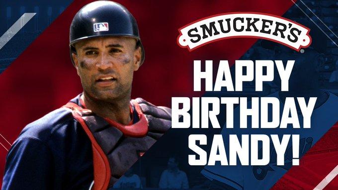 To help us and wish Sandy Alomar Jr. a happy birthday!