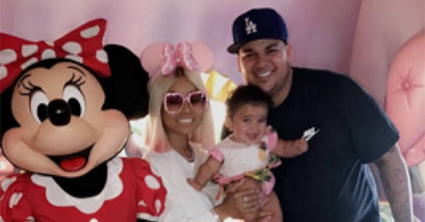 Rob Kardashian spent his first Father's Day at Disneyland with Blac Chyna and baby Dream.
