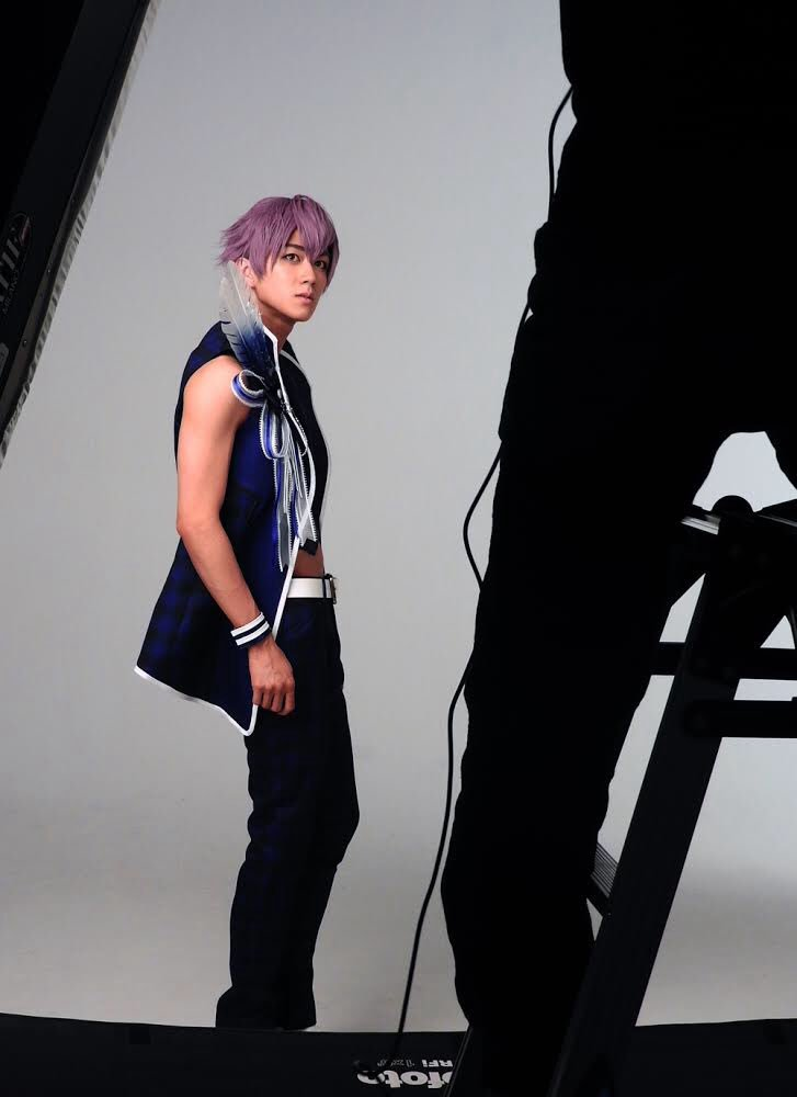 B-PROJECT on STAGE 『OVER the WAVE!』の撮影風景をお届けします!野目龍広役の千綿勇平さん