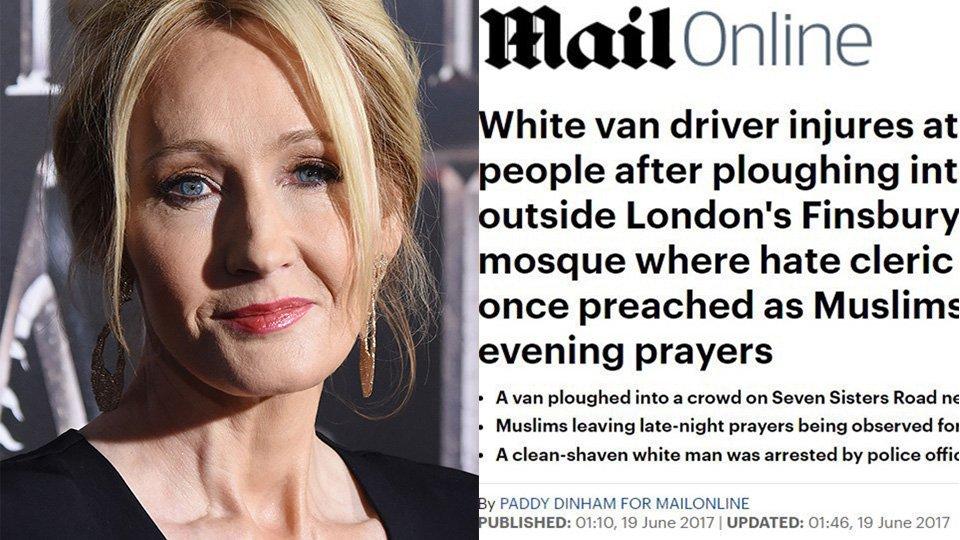 J.K. Rowling shuts down 'Daily Mail' headline with 2 no-nonsense tweets https://t.co/rTiwP2sJHC https://t.co/a32eaYu7uI