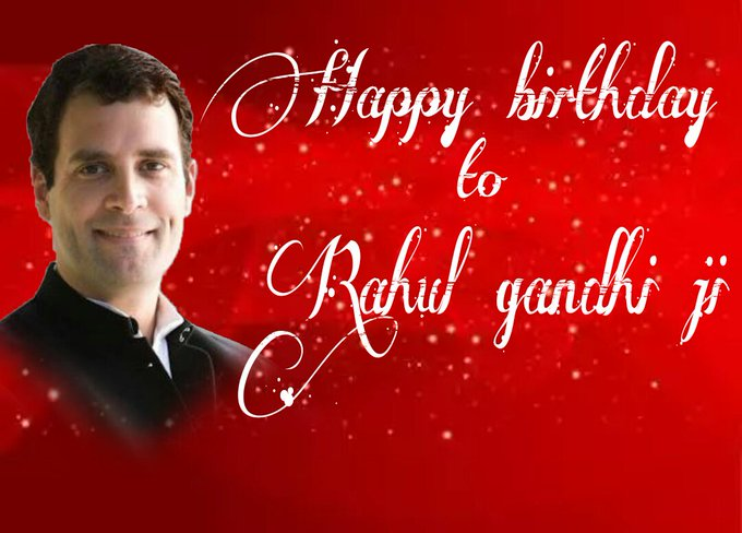 Wishing a very very great happy birthday to our beloved leader & AICC vice president. MR RAHUL GANDHI JI