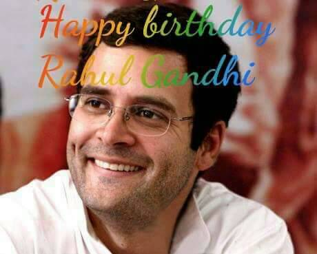 Happy birthday to Rahul Gandhi. God keeps you healthy and wealthy.