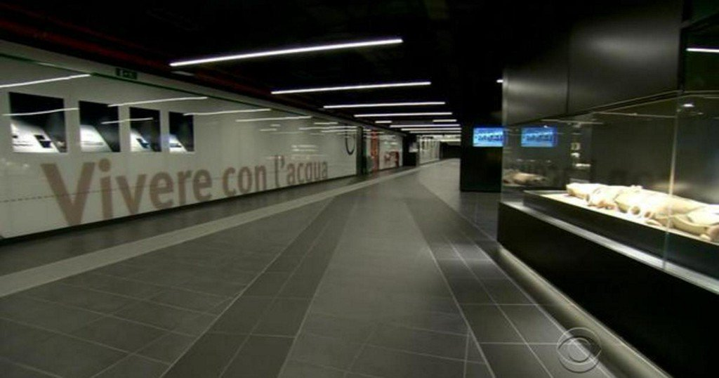 Rome's subway station is also museum filled with ancient history