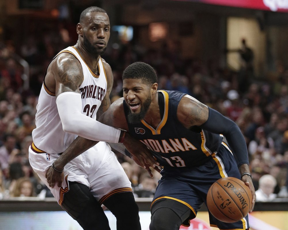 Cavs, Pacers have discussed a trade involving Paul George, per @AmicoHoops https://t.co/EeAm3PPoTg https://t.co/eR3rhY8m79