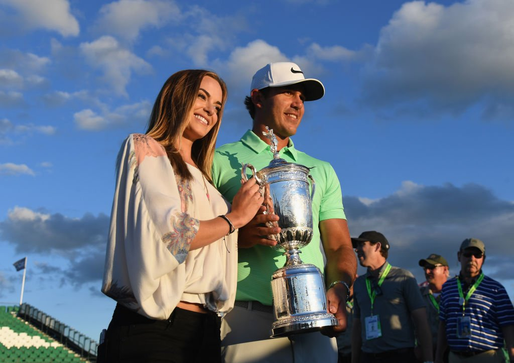 Watch as Fox Sports commentator accidentally identifies Brooks Koepka's girlfriend as his ex