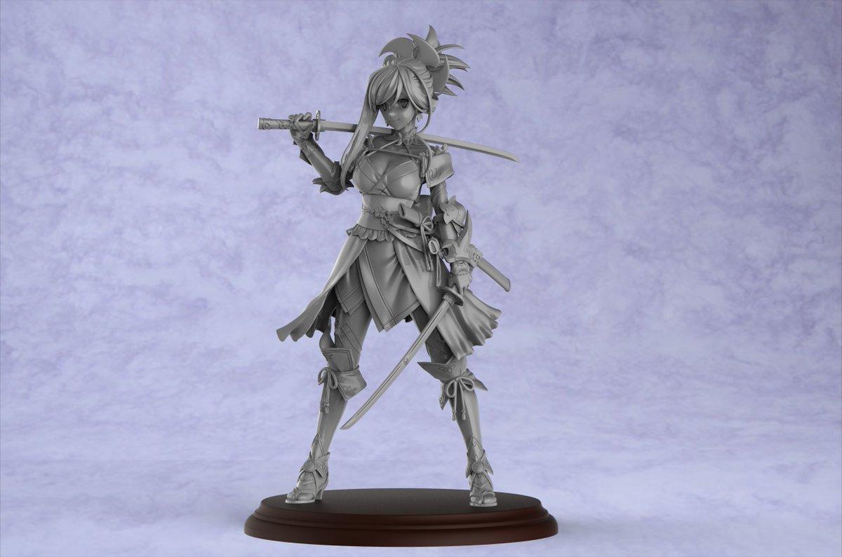 『Fate-Grand Order』より宮本武蔵をモデリングしましたー!許諾いただけたので夏のワンフェスで展示販売の予定