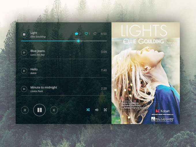 Music Player   Template by Alena Studio freebie via GenioDronof