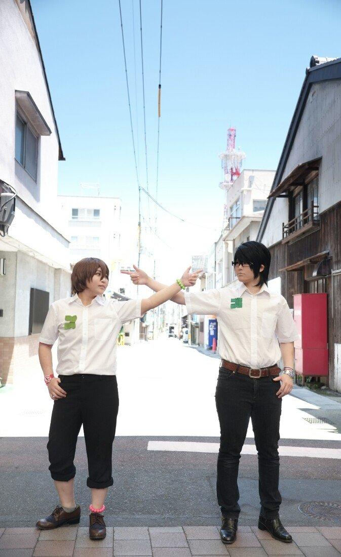 【残響のテロル】ツエルブ:鈴ちゃん()ナイン:侑映街中と空を入れたテロルの写真撮るの念願でした😂😂✨✨ほんと鈴ちゃんのツ