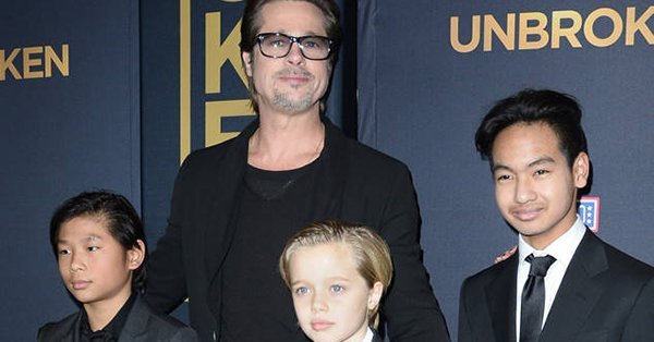 Several of Brad Pitt's children celebrated Father's Day early with him on Saturday: