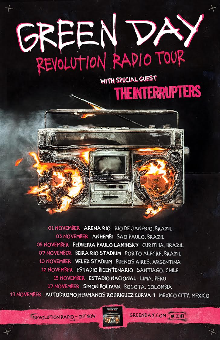 GREEN DAY ADD LATIN AMERICA DATES TO  REVOLUTION RADIO TOUR more at https://t.co/L4DlGjhwQ8: https://t.co/KkTAErmS8g https://t.co/bEFfEID2aO