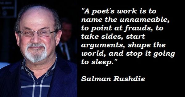 Writer Salman Rushdie was born in 1947. Happy birthday,