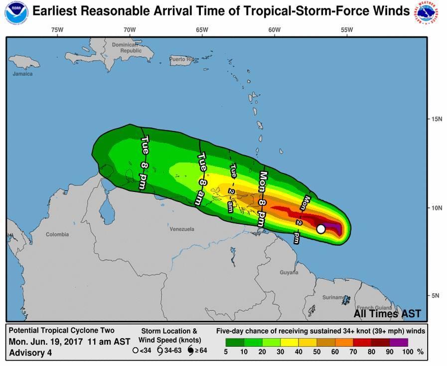 Potential Tropical Cyclone Bulletin (19 June, 11 am)
