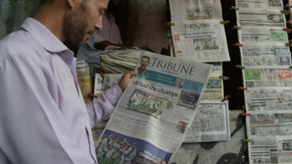 Pakistan cricketers hailed by media after 'confounding everyone'